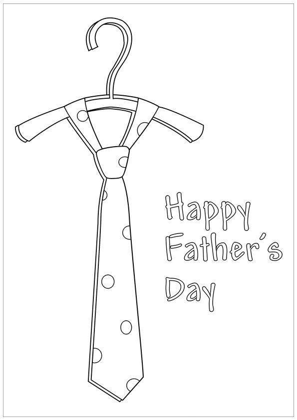 Fathers Day Tie Coloring Pages