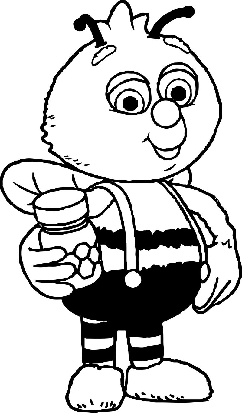 Fifi And The Flowertots Bee Coloring Page