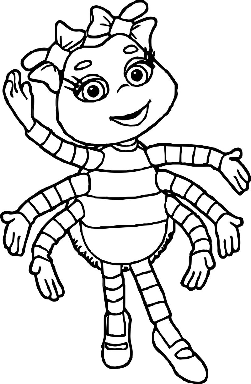 Fifi And The Flowertots Girl Bug Coloring Page