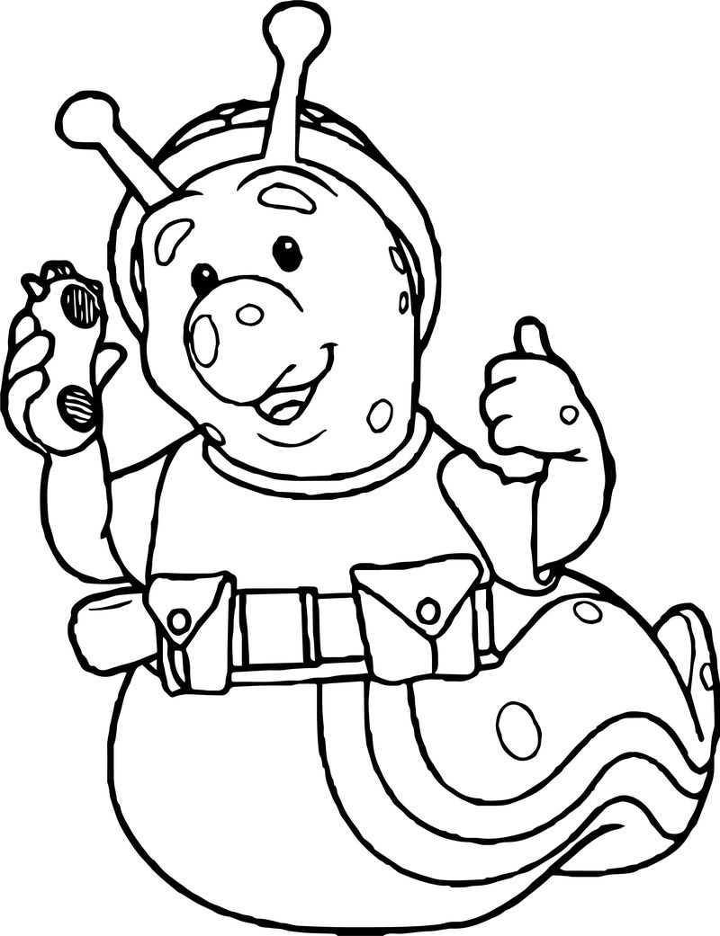 Fifi And The Flowertots Snail Coloring Page