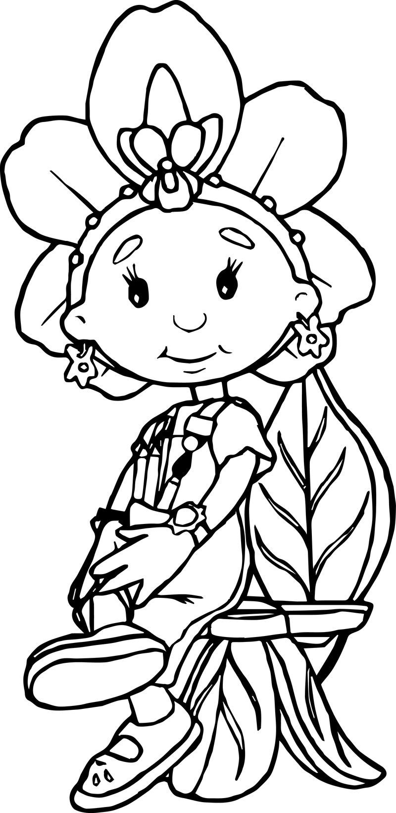 Fifi and the flowertots staying coloring page