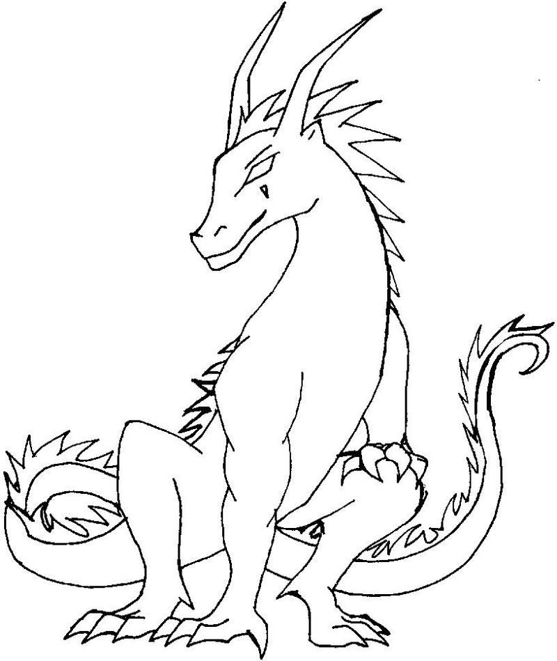 Fire Dragon Coloring Pages 001