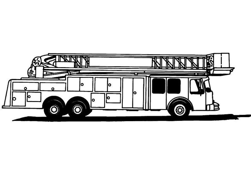 Fire Truck Coloring Page For Kids 001