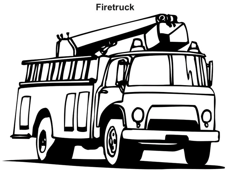 Fire Truck Coloring Pages Photos 001