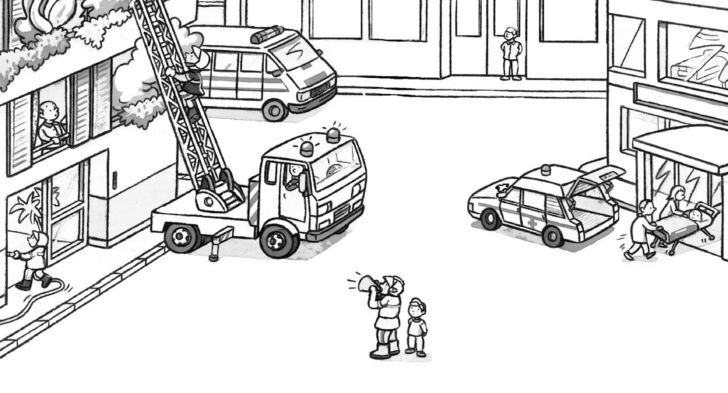 Fire Truck Coloring Picture