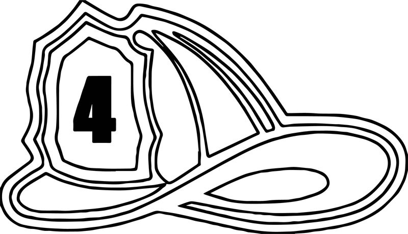 Fire Truck Hat Coloring Page