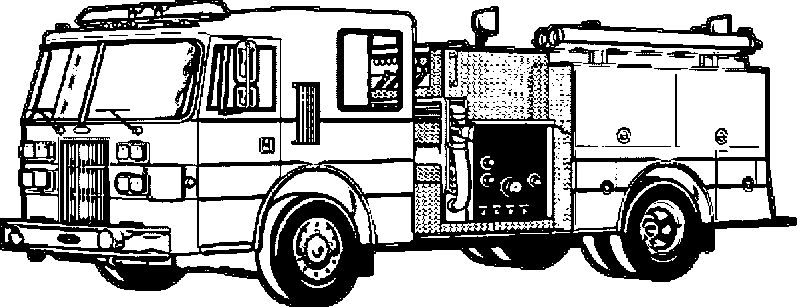 Fire Truck Sketch Coloring Page