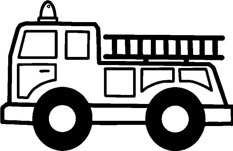 Fire Truck Stair Coloring Page