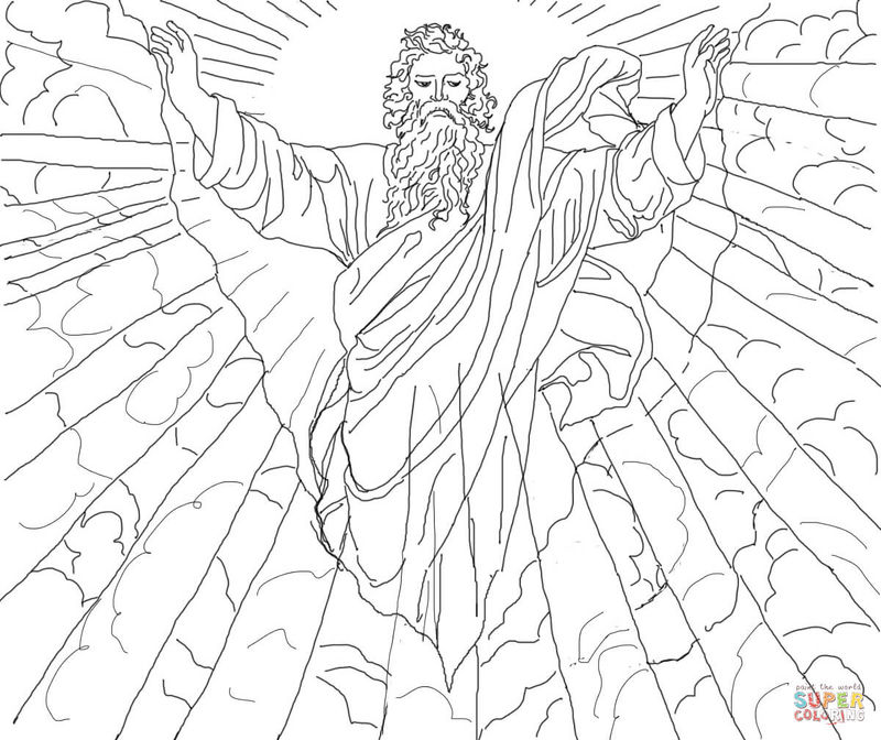 First Day Creation Coloring Pages