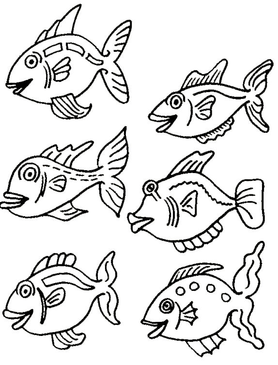 Fish Color Sheet Printable 001