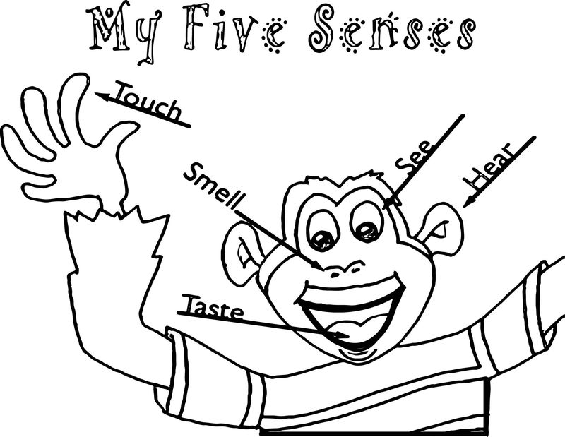 Five Senses Rockin The School House Coloring Page