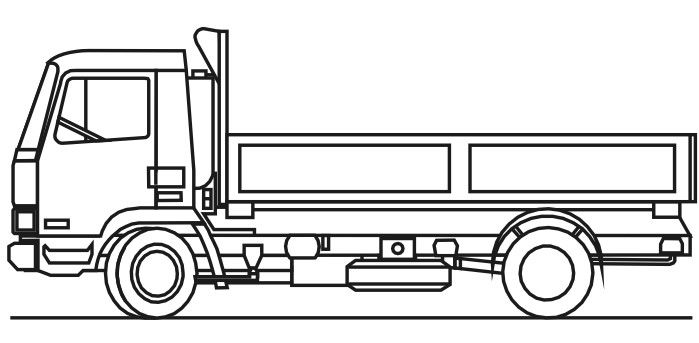 Flat Bed Truck Coloring Pages