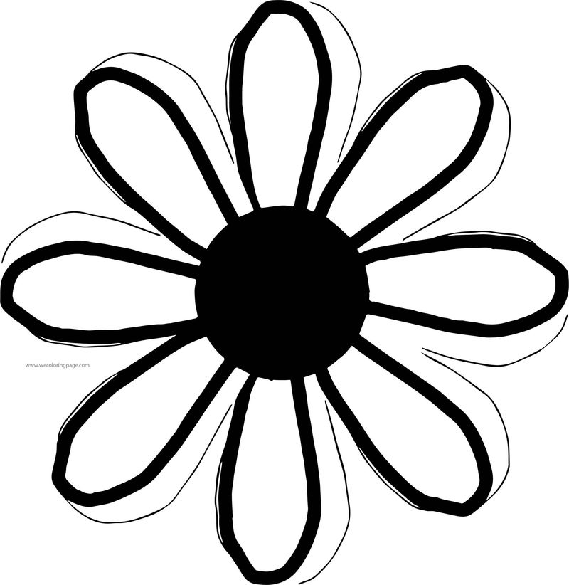 Flower Bold Slim Line Coloring Page