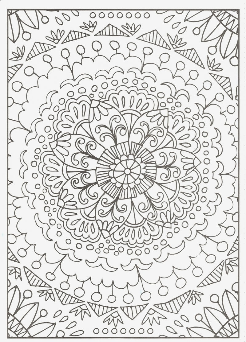 Flower Drawing For Adult Coloring