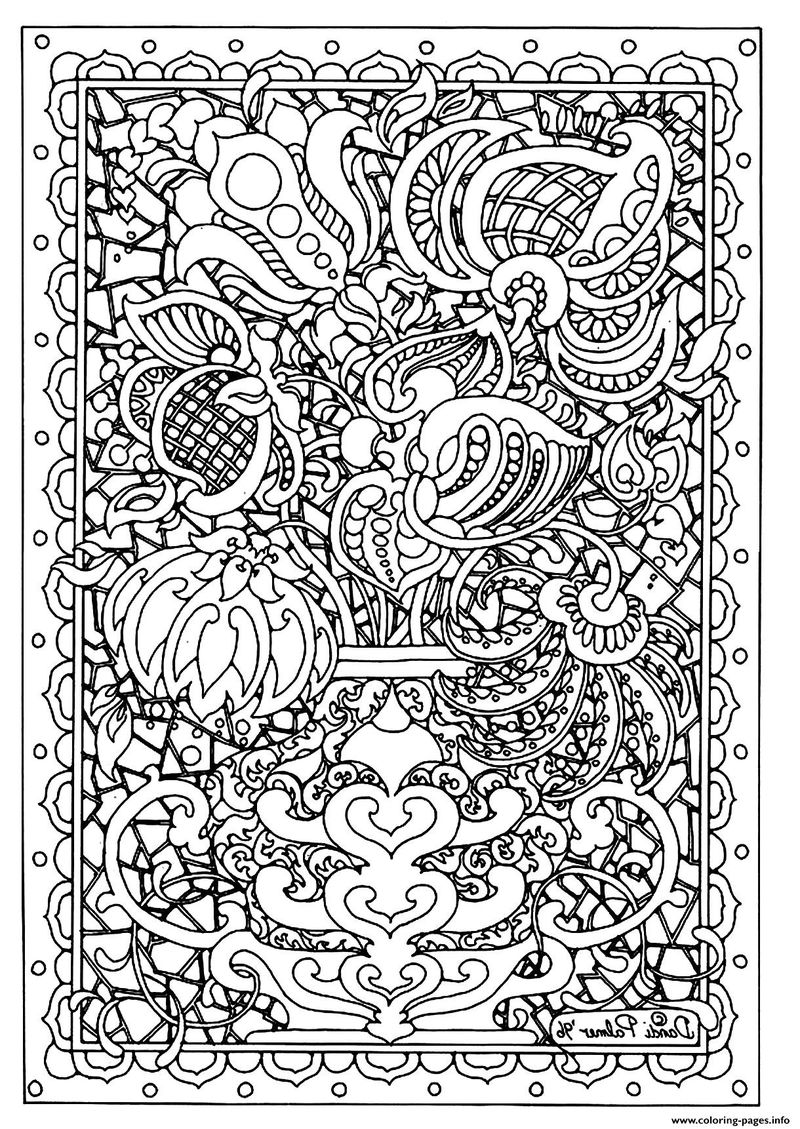 Flower Picture For Adult Coloring