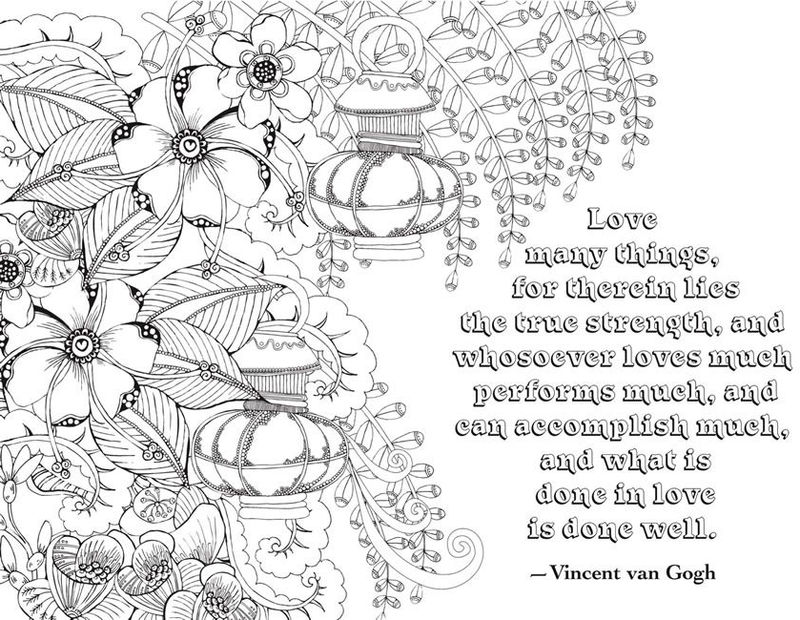 Flower Quote Coloring Pages