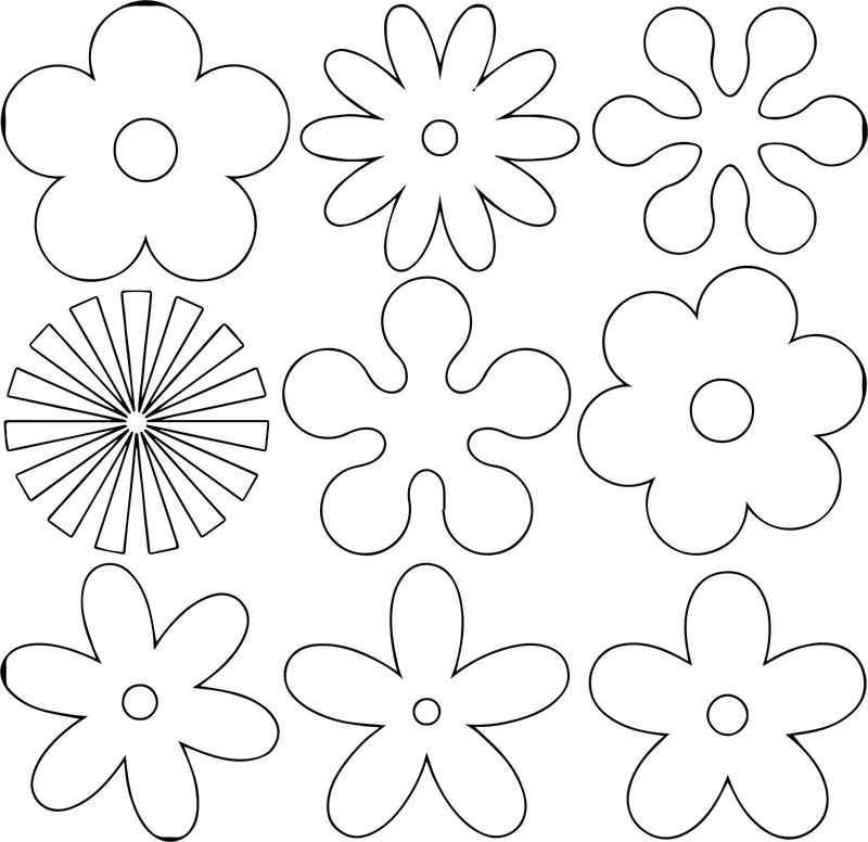 Flower Shape Coloring Page