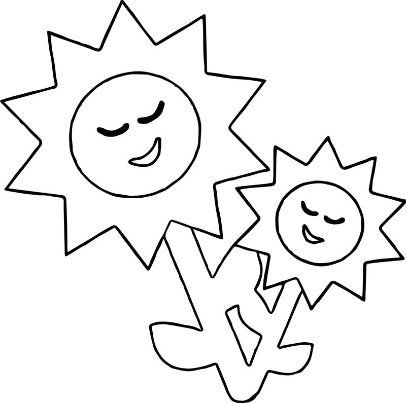 Flower Sun Coloring Page