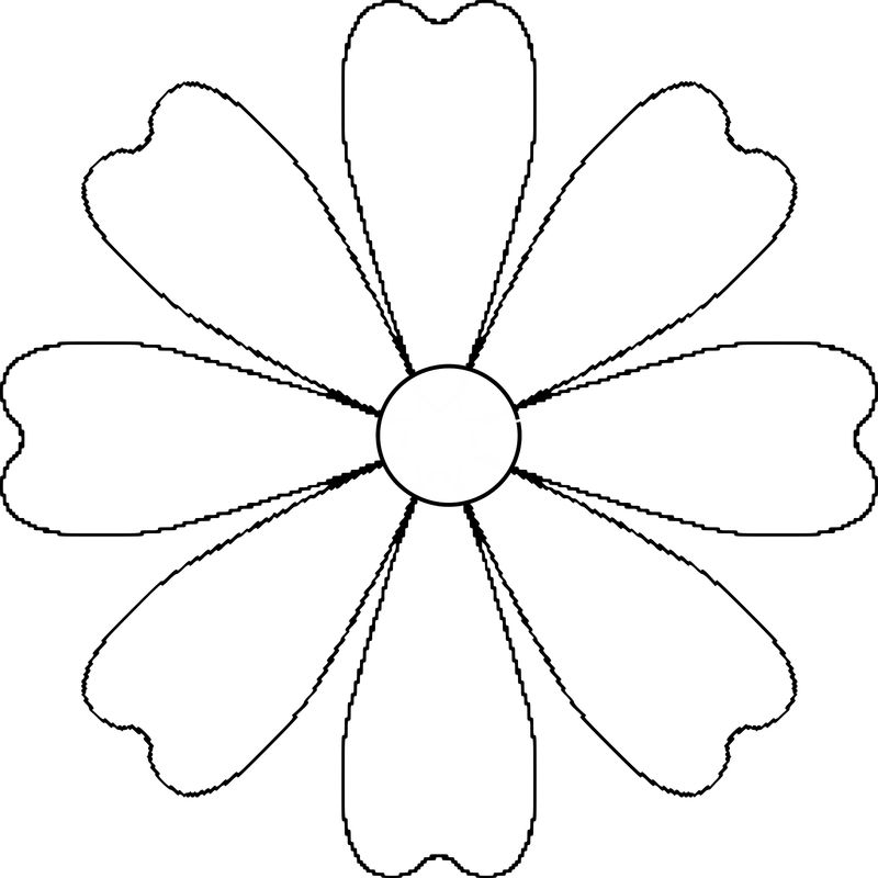 Flower Template For Coloring