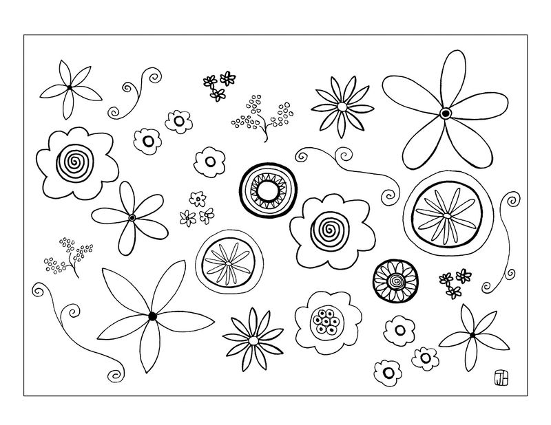 Flower Template To Color And Print
