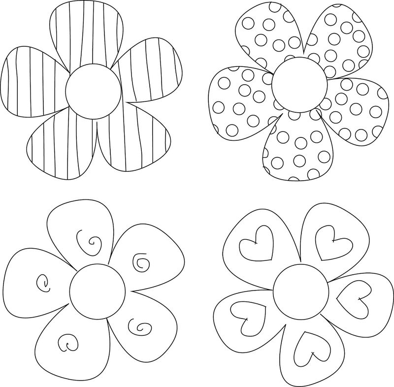 Flower Template To Color Cute
