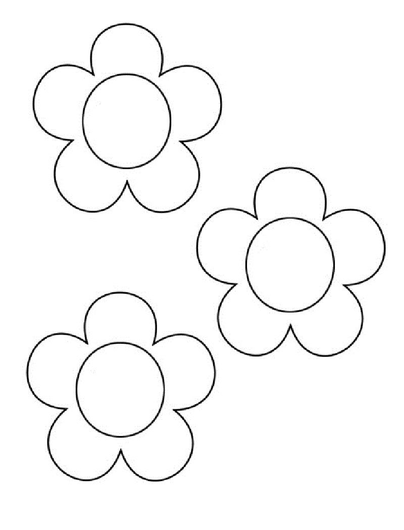 Flower Templates To Print And Color 001