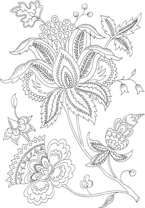 Flowers Art Coloring Pages For Adults
