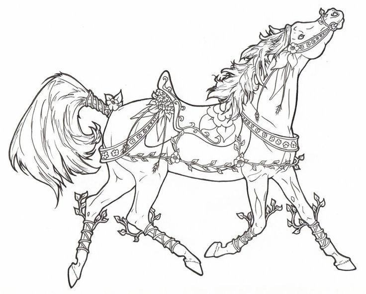 Flowery Horse Coloring Pages