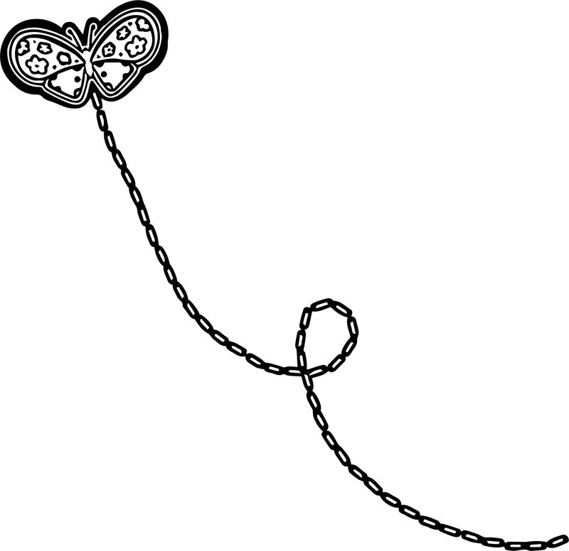 Flying Butterfly Trace Coloring Page