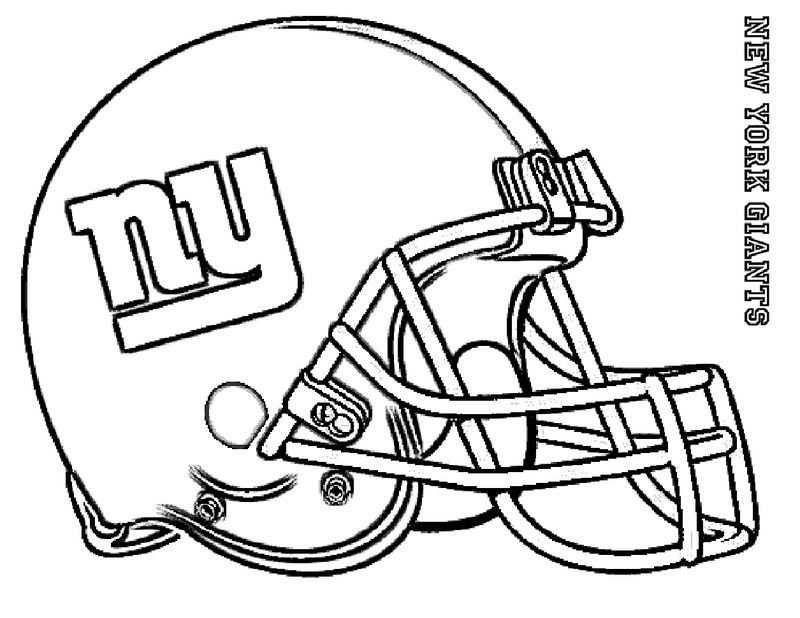 Football Coloring Page New York Giants 001