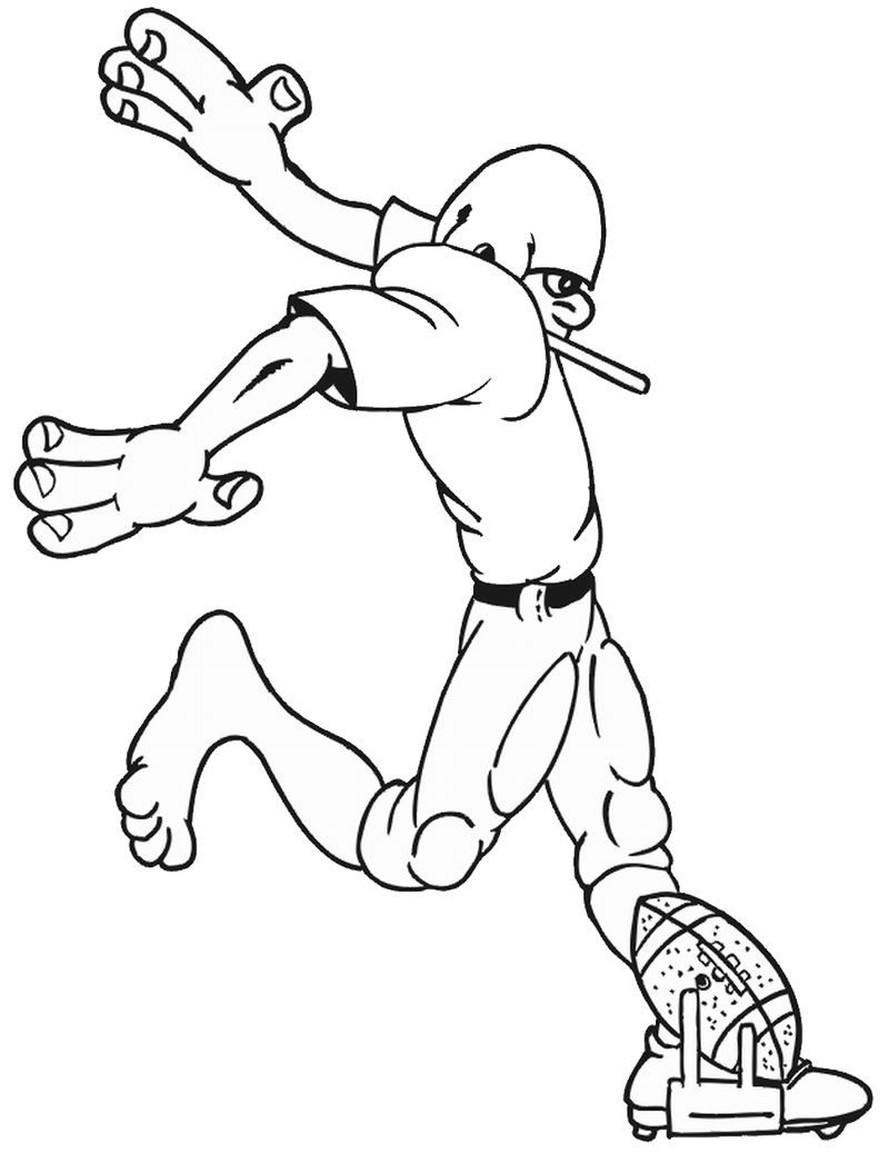 Football Coloring Page Pictures 001
