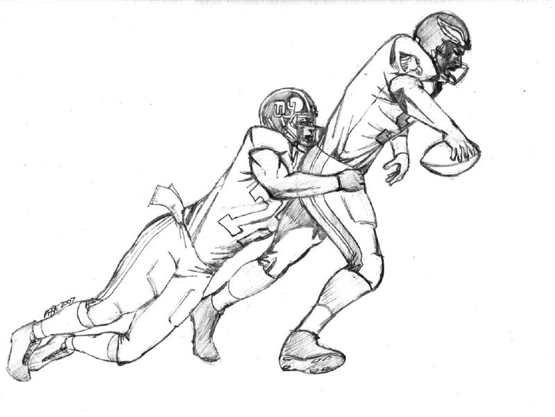 Football Coloring Page Player 001