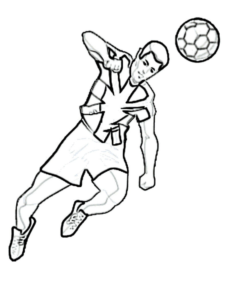 Football Coloring Picture Practice 001