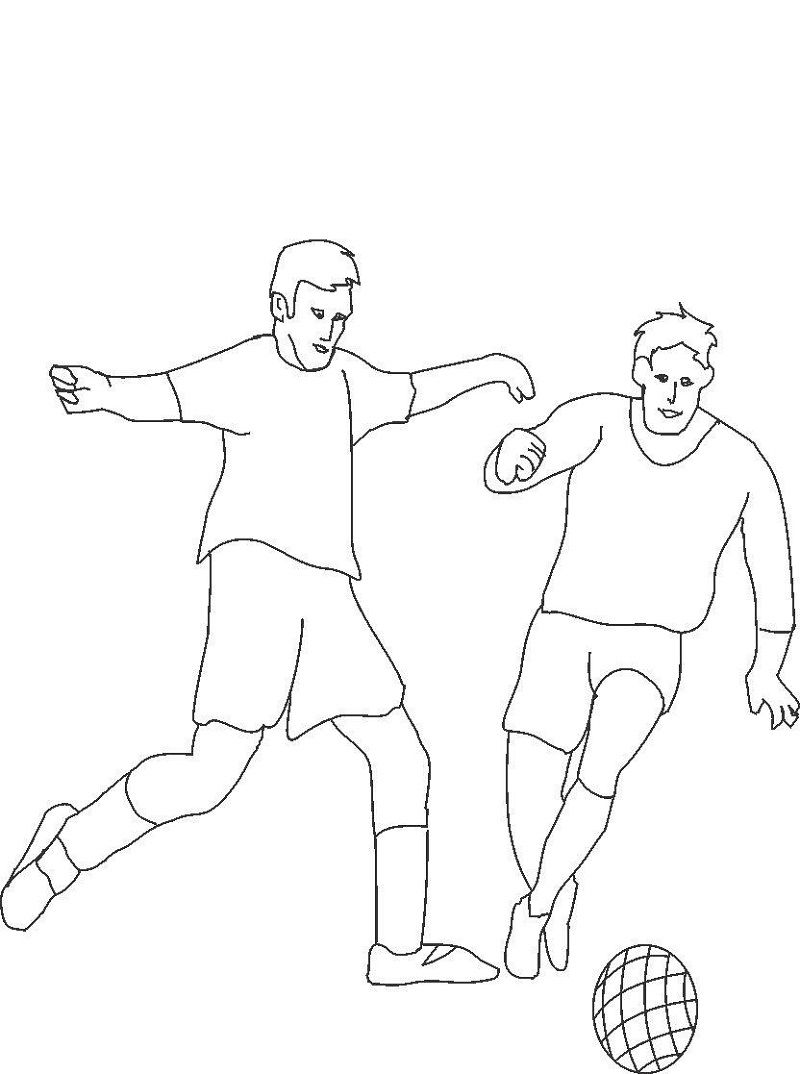 Football Coloring Picture Simple 001