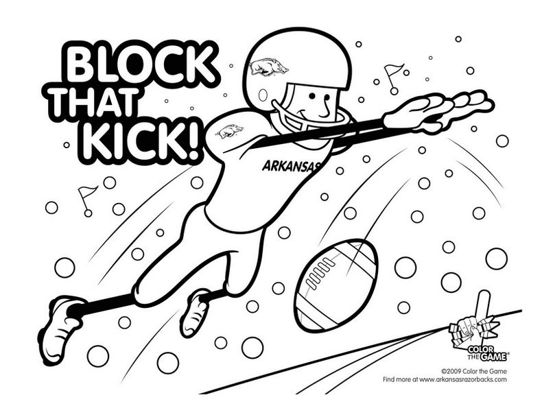 Football Match Coloring Page