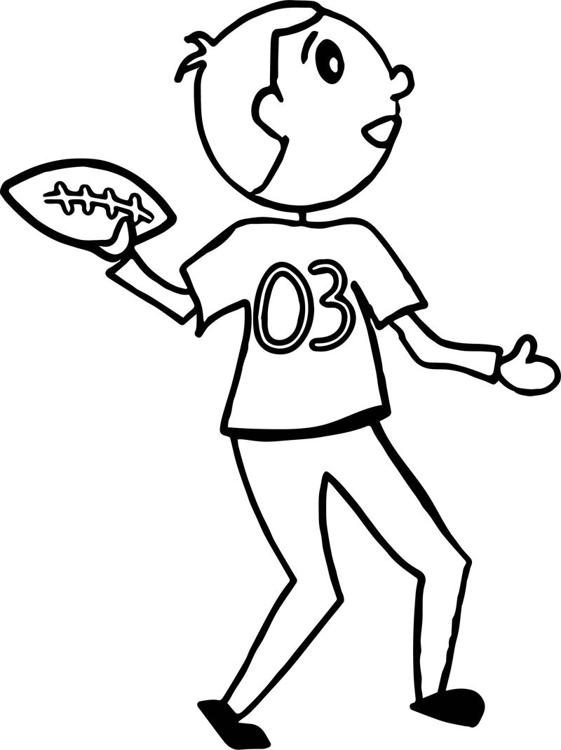 Football Player Playing Coloring Page