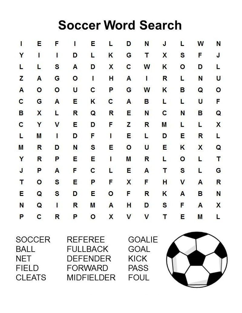 Football Word Search Activity
