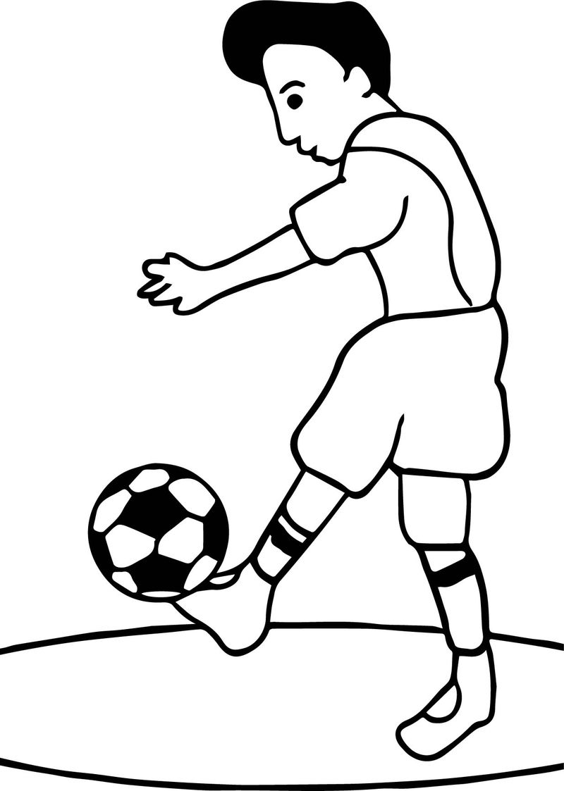 Footy Club Playing Football Soccer Coloring Page