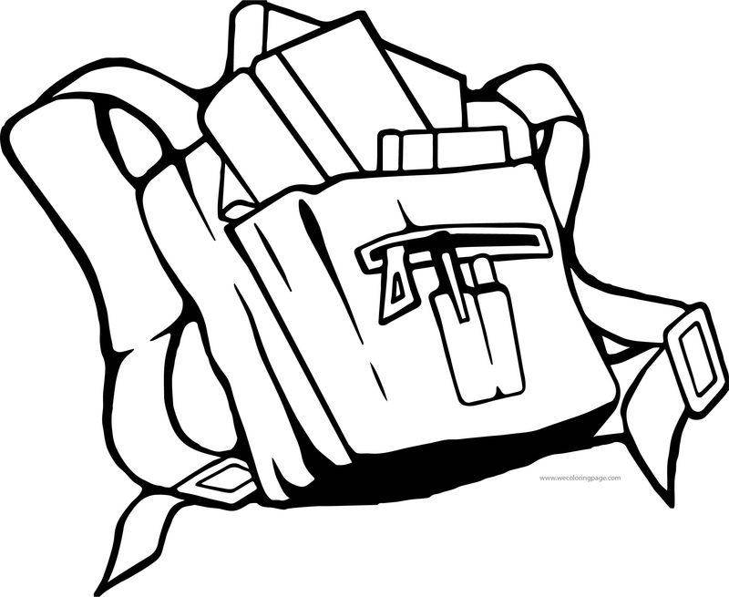For School Bag Coloring Page