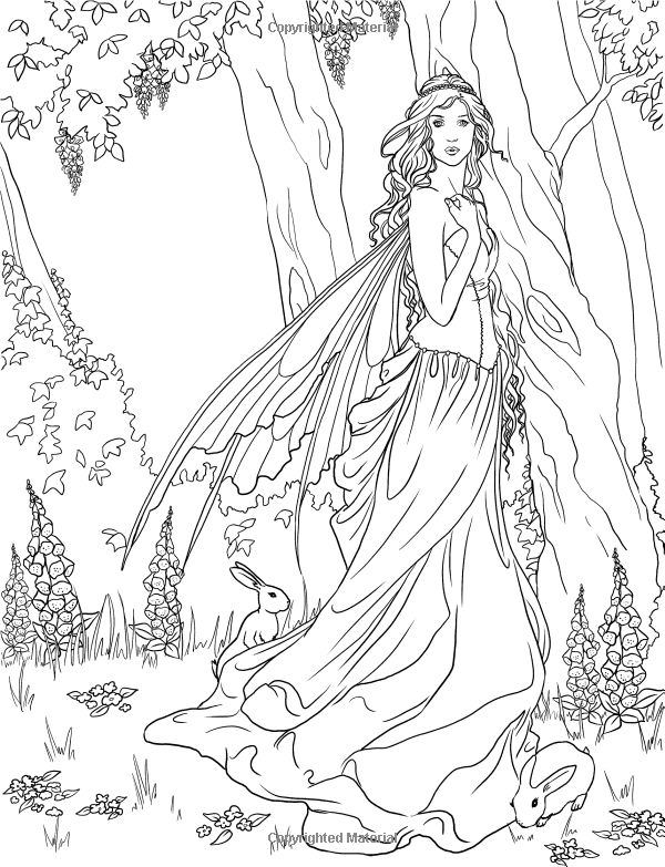 Forest Fairy Coloring Pages