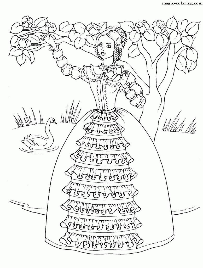 Formal Princess Coloring Page