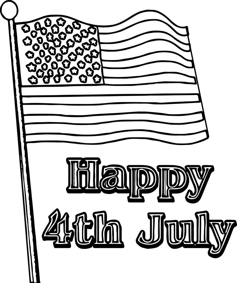 Fourth 4th July Coloring Page