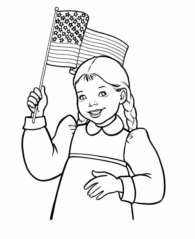 Free 4th Of July Coloring Pages American Flag