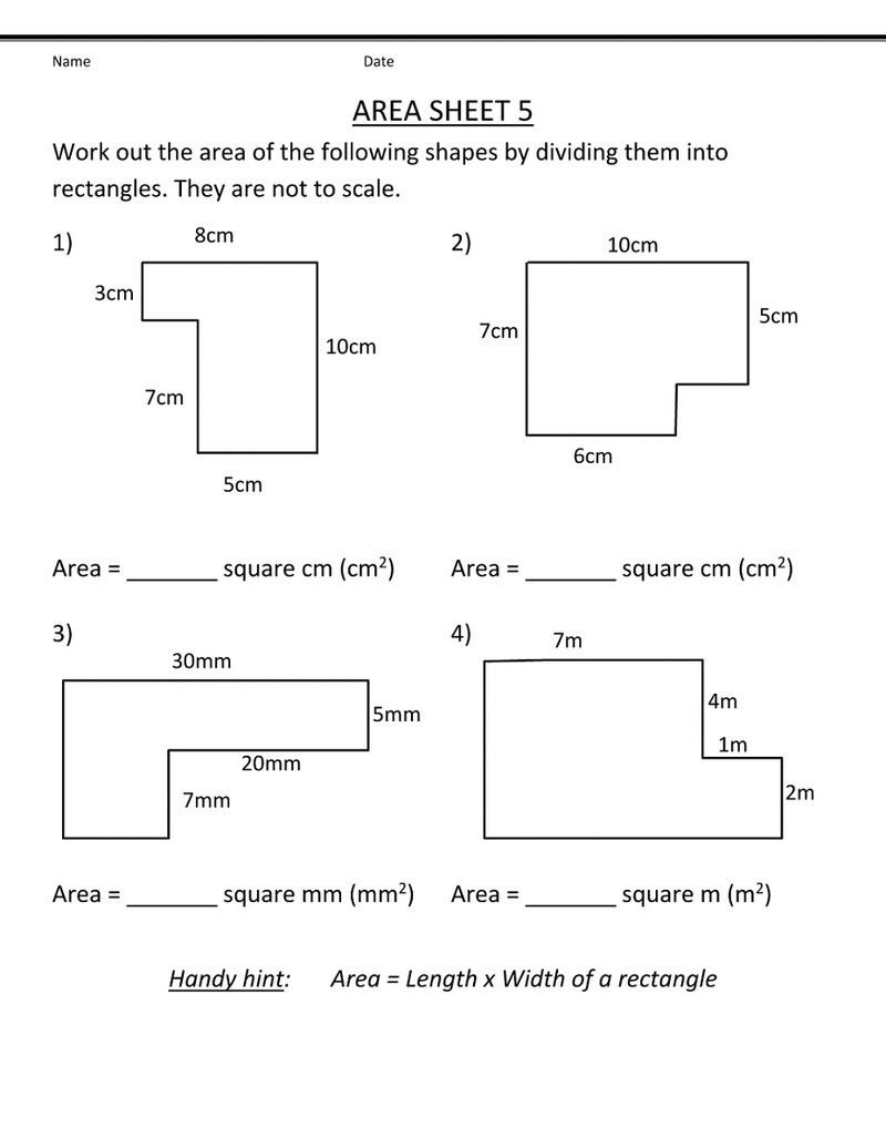 Free 5th Grade Math Worksheets Geometry