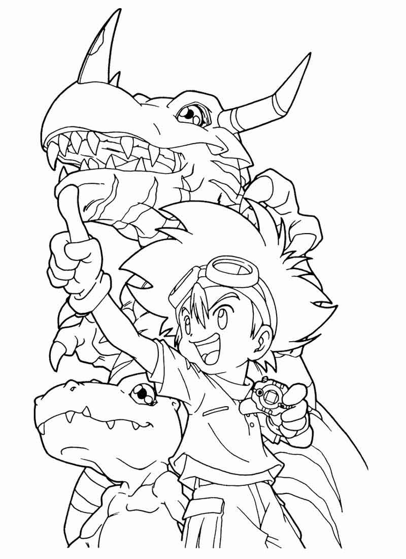 Free Coloring Pages Of Digimon