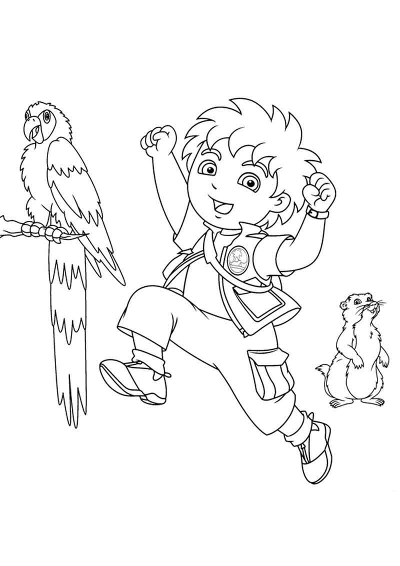 Free Diego Coloring Pages Printable