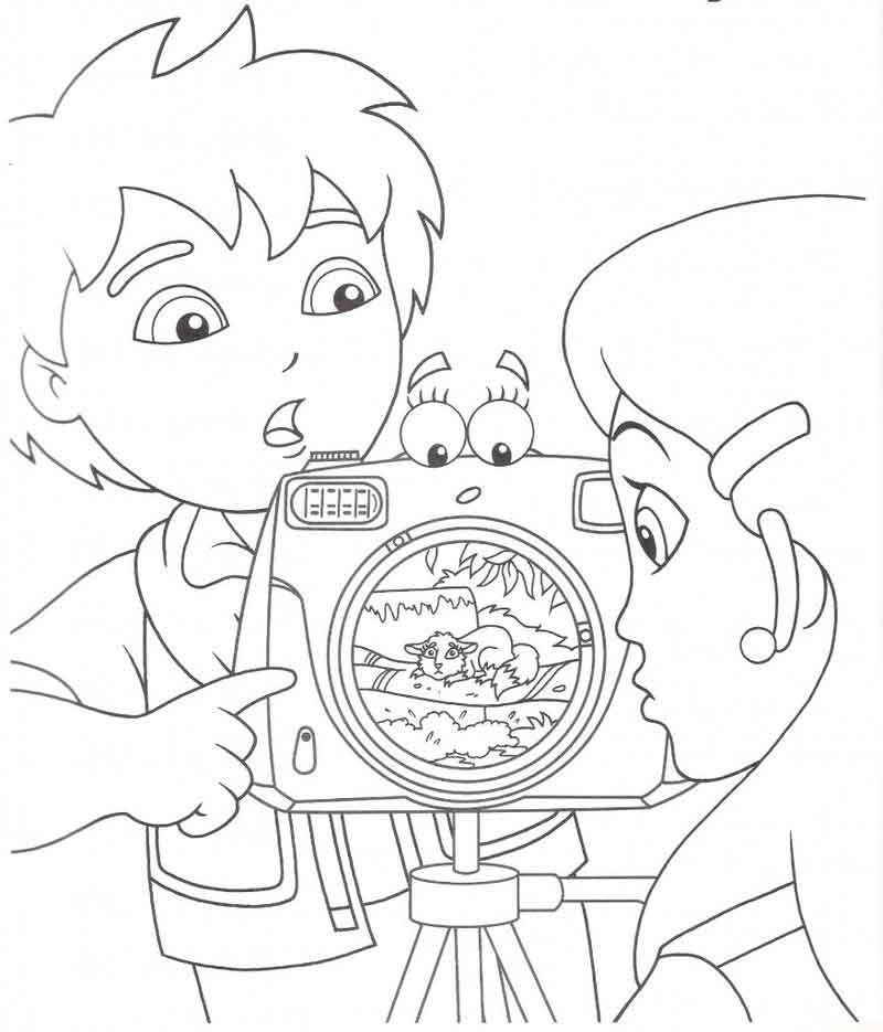 Free Diego Coloring Pages