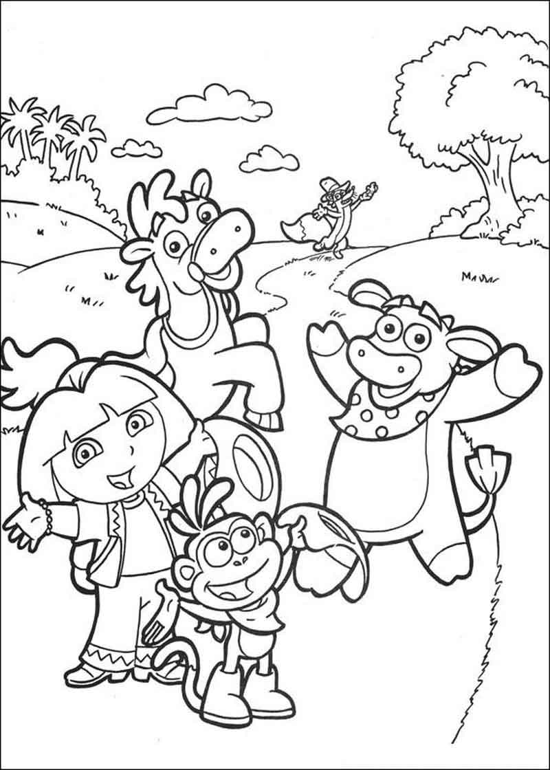 Free Dora The Explorer Coloring Pages (1)