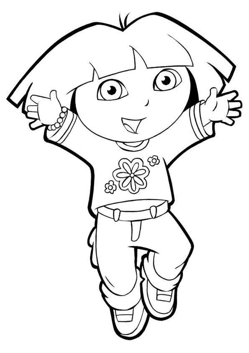Free Dora The Explorer Coloring Pages For Kids (1)