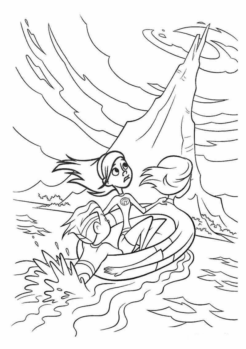Free Incredibles Coloring Pages